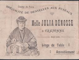 Carton Publicitaire Melle JULIA DENOSSE à CRAPONNE - Craponne Sur Arzon