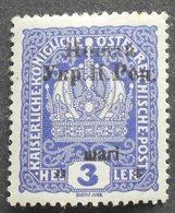 Western Ukraine 1919 1st Stanislav Issue, 3 Sh, Signed, MH - Ukraine