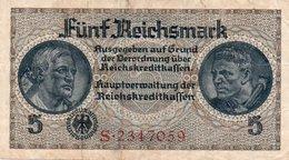 GERMANY-. 5 REICHSMARK 1940 **CIRC.   P-R138a  VF+XF - [ 4] 1933-1945 : Tercer Reich