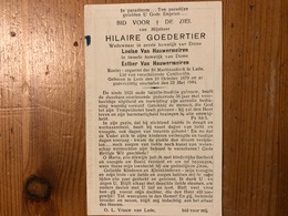 Goedertier Hilaire Wed Van Hauwermeiren Louise *1870 Lede +1944 Lede Koster St Martinuskerk - Décès