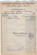 VP17.027 - Facture - Mécanique Générale De Précision EYRIGNOUX à PARIS Rue De Mouzaia - France