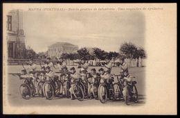 MAFRA Escola Pratica De Infanteria - Esquadra De Cyclistas. Militar Ciclista Bicicleta. Old Postcard (Lisboa) PORTUGAL - Lisboa