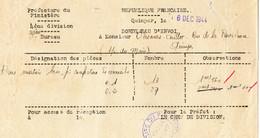 0612 1944 Préfecture De Quimper Bons Matières Pour Confections De Cercueils - Oorlog 1939-45