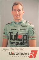 Postcard Jacques Van Der Poel - Tulip Computers - 1992 - Ciclismo