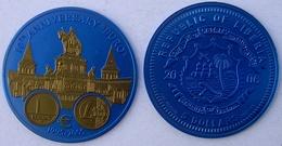 LIBERIA 5 $ 2006 NIOBIO NIOB 10 YEARS OF EURO HUNGARY PESO 7,78g CONSERVAZIONE FDC UNC. - Liberia