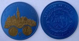 LIBERIA 5 $ 2006 NIOBIO NIOB 10 YEARS OF EURO SLOVENIA PESO 7,78g CONSERVAZIONE FDC UNC. - Liberia