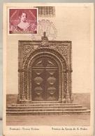 Portugal & Marcofilia, Torres Vedras, Pórtico Da Igreja De S. Pedro 1954 (5757) - 1910-... Republic