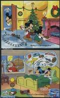 Grenada 1988 60 Years Mickey Mouse 2 S/s, (Mint NH), Transport - Railways - Art - Disney - Various - Toys & Child.. - Christmas