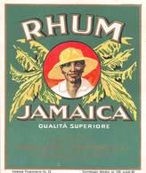"7187"" RHUM JAMAICA-DISTILLERIE COLOMBO-CARDANO AL CAMPO-VARESE "" ETICHETTA ORIGINALE - Rhum"