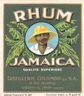 "7207"" RHUM JAMAICA-DISTILLERIE COLOMBO S.A.-CARDANO AL CAMPO-VARESE "" ETICHETTA ORIGINALE - Rhum"