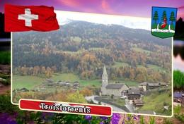Postcard, REPRODUCTION, Municipalities Of Switzerland, Troistorrents - Cartes Géographiques