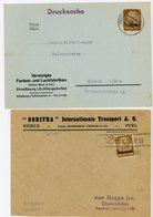 ALSACE LORRAINE LOT DE 2 LETTRES ENV 1941 => HAUT RHIN STRASSBURG / ELSASS+ BORNEN ALLEMANGNE / LOTHRINGEN - Poststempel (Briefe)