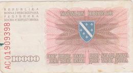 Bosnie-Herzégovine - Billet De 10000 Dinara - 25 Janvier 1993 - Bosnia Erzegovina