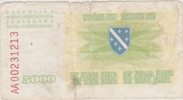 Bosnie-Herzégovine - Billet De 5000 Dinara - 25 Janvier 1993 - Bosnie-Herzegovine