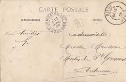 MEUSE CP 1905 DIEUE T84 + BOITE URBAINE A - Marcophilie (Lettres)