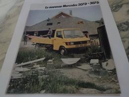 ANCIENNE PUBLICITE LE NOUVEAU  207 D ET 307 D DE MERCEDES  1977 - LKW