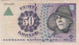 Danemark - Billet De 50 Kroner - Karen Blixen - P55a - Denmark