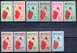 Madagascar Madagskar Luftpost Y&T PA 1*, PA 4*, PA 5*, PA 5A*, PA 8*, PA 9*, PA 10**, PA 11* - PA 13*, PA 14** - Madagaskar (1889-1960)
