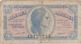 Espagne - Billet De 50 Centimos - 1937 - [ 3] 1936-1975 : Regime Di Franco