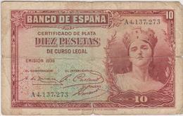 Espagne - Billet De 10 Pesetas - 1935 - [ 2] 1931-1936: Republik
