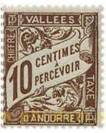 Ref. 626028 * MNH * - ANDORRA. French Adm.. 1938. BAND FIGURES . CIFRAS EN BANDA - Nuevos