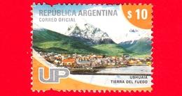 ARGENTINA - Usato - 2008 - Ushuaia - Tierra Del Fuego - $ 10 - Gebruikt