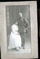 MARIAGE MILITAIRE PHOTO1917SIGNEE PAUL ET MAG - Uniforms