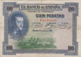 Espagne - Billet De 100 Pesetas - Felipe II - 1er Juillet 1925 - [ 2] 1931-1936: Republik