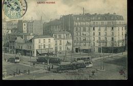 St Mandé 94  Place De La Tourelle Au Coin De La Rue De Charonne 377 Fleury 1906 Tramways - Saint Mande