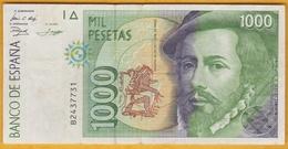Espagne - Billet De 1000 Pesetas - Hernan Cortes & Francisco Pizarro - 12 Octobre 1992 - [ 4] 1975-…: Juan Carlos I.