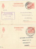 DANMARK / WARNEMÜNDE   - 1937   , Reply Ganzsache  Benutzt Aus Warnemünde Nach Kopenhagen - Entiers Postaux