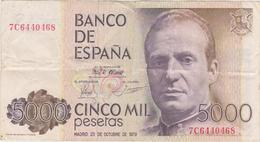 Espagne - Billet De 5000 Pesetas - Juan Carlos Ier - 23 Octobre 1979 - [ 4] 1975-…: Juan Carlos I.