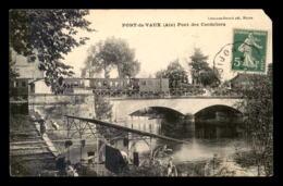01 - PONT-DE-VAUX - TRAIN SUR LE  PONT DE CHEMIN DE FER DES CORDELIERS - VOIR ETAT - Pont-de-Vaux