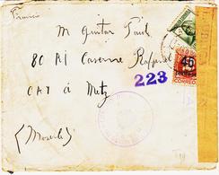 ESPAGNE, Censure Republicaine  En Mars 1938, Ejercito Del Este Pour Metz TB - Marques De Censures Républicaines