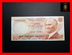 TURKEY 20 Turk Lirasi 1979   P. 187   AU - Turquie