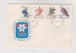 YUGOSLAVIA,1968 OLYMPIC GRENOBLE  FDC Cover Zagreb - 1945-1992 République Fédérative Populaire De Yougoslavie