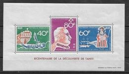 POLYNESIE - Yvert  Bloc N° 1 ** Bicentenaire De La Découverte De Tahiti - Blocks & Sheetlets
