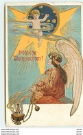 N°8378 - Carte Fantaisie Gaufrée - Fröhliche Weihnachten - Ange Avec Un Encensoir - Sonstige