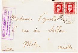 ESPAGNE,  De Puigcerda En 1936 Pour Metz, Comité De Milicias Antifascistas - Marcophilie - EMA (Empreintes Machines)
