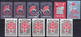 Yugoslavia 1989 Complete Surcharge Stamps MNH Michel #166/176 - Portomarken