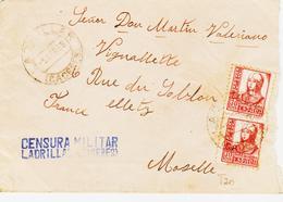 ESPAGNE,  De Ladrillar ( Caceres) Censure En Avril 1938  TB - Marcophilie - EMA (Empreintes Machines)