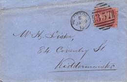 GROSSBRITANNIEN - LETTER 1875 HEREFORD -> KIDDERMINSTER /ak404 - 1840-1901 (Regina Victoria)