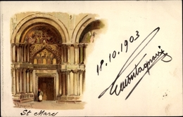 Artiste Lithographie Venezia Venedig Veneto, S. Marco - Italien