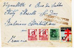 ESPAGNE,  De Nunomoral  ( Caceres) Censure En Dec 1938  Tp Antituberculeux  TB - Marcophilie - EMA (Empreintes Machines)