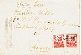 ESPAGNE,  De Nunomoral  ( Caceres) Censure , Obliteration Plume Fev 1938    TB - Marcophilie - EMA (Empreintes Machines)