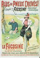 FUCOSINE. CP PUB Repro Plus De Pneux Crevés Femme à Bicyclette Carte Entoilée Vieilles Affiches Du Temps Passé - Advertising