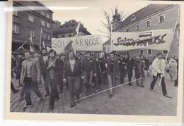 Cpa Old Pc Pologne Varsovie 1982 Solidarnosc Manifestattion - Polonia