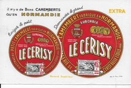 BUVARD   LE CERISY CAMEMBERT NORMANDIE CERISY BELLE ETOILE ORNE - Alimentaire