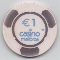 Jeton BG De Casino Mallorca Espagne €1 - Casino