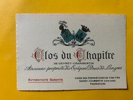 13154 - Clos Du Chapitre De Gevrey-Chambertin - Bourgogne
